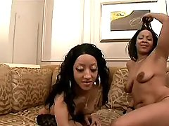 black lesbians play with handcuffs on cam