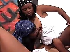 Beautiful lesbo lady caresses chick ebony lesbian sex