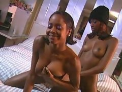 Adorable black sistas makes sweaty sex ebony lesbian sex